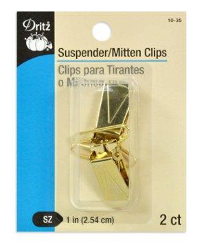 """Dritz 2 Gilt Suspender & Mitten Clips - 1"""""""