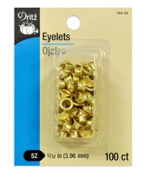 Dritz 100 Brass Eyelets