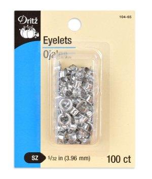 Dritz 100 Nickel Eyelets