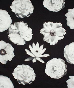 Iman Foto Fleur Onyx Fabric
