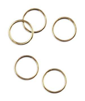 """3/8"""" Brass Rings - 50 Pack"""