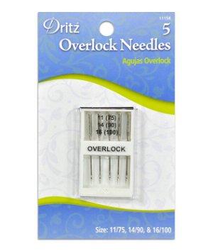Dritz Overlock Machine Needles - Size 11/14/16
