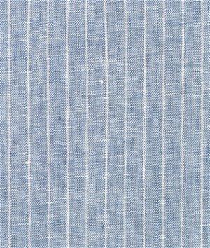 Denim Blue Pinstripe Chambray Linen Fabric