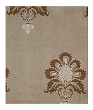 Beacon Hill Damask Texture Umber Linen Fabric