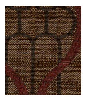 Robert Allen Ogee Maze Chestnut Fabric