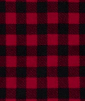 Buffalo Plaid Red WinterFleece Fabric