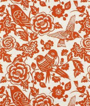 Duralee Aviary Tangerine Fabric