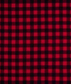 Red Buffalo Plaid Flannel Fabric