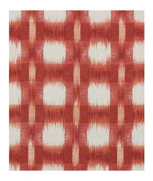 Robert Allen Plaid Ikat Cherry Fabric