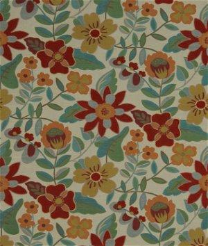 Robert Allen @ Home Garden Toss Backed Poppy Fabric