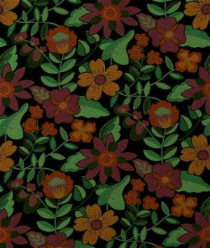 Robert Allen @ Home Garden Toss Backed Nightsky Fabric