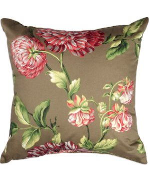 "16"" x 16"" Carnation Candy Peppermint Premium Decorative Pillow"