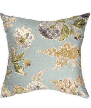"16"" x 16"" Flourish Blue Premium Decorative Pillow"