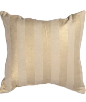 "17"" x 17"" Metallic Stripe Gold Premium Decorative Pillow"