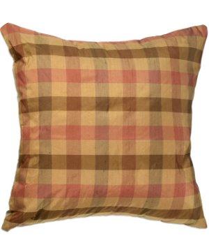 "16"" x 16"" Silk Checkers Rose Premium Decorative Pillow"