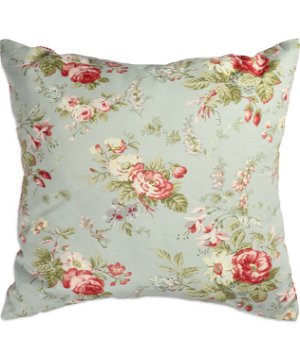 "17"" x 17"" Tea Roses Misty Premium Decorative Pillow"