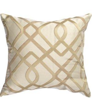 "16"" x 16"" Echo Champagne Premium Decorative Pillow"