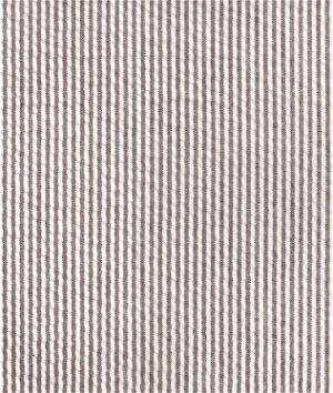 Robert Kaufman Espresso Brown Seersucker Stripe Fabric