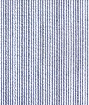 Robert Kaufman Royal Blue Seersucker Stripe Fabric