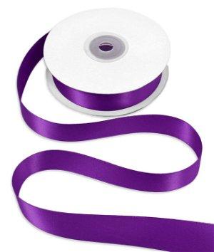 "7/8"" Purple Double Face Satin Ribbon - 25 Yards"