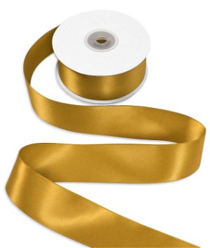 "1-1/2"" Gold Double Face Satin Ribbon - 25 Yards"