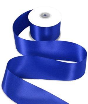 "2-1/2"" Royal Blue Double Face Satin Ribbon - 25 Yards"