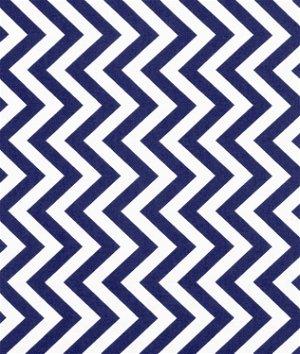Moda Medium Zig Zag Royal Fabric