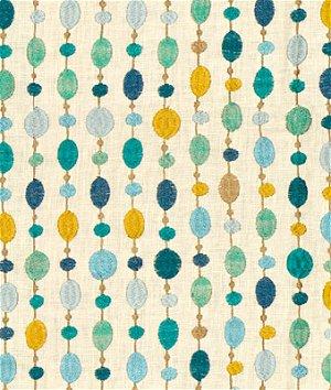 Kravet 33071.513 Beaded Linen Turquoise Fabric