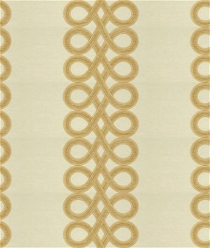 Kravet 33543.116 The Twist White Gold Fabric | OnlineFabricStore.net