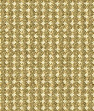 Kravet 33557.4 Rare Coin White Gold Fabric