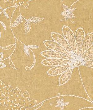 Kravet 3574.4 Hand Embroidery Saffron Fabric