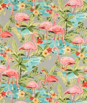 P/K Lifestyles Outdoor Flamingoing Platinum Fabric