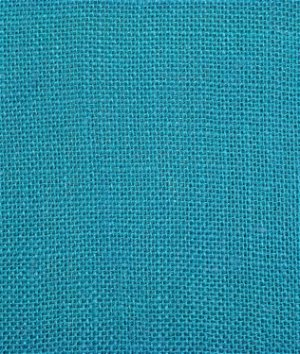 Bahama Turquoise Sultana Burlap Fabric