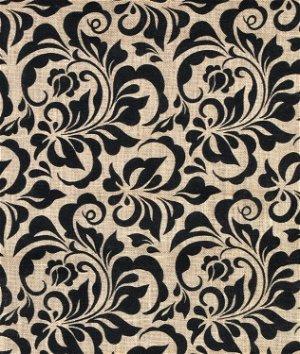 Springs Creative Damask Small Leaf Printed Burlap Fabric