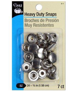 Dritz 7 Heavy Duty Snaps - Size 24