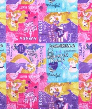 Springs Creative Disney I am a Princess Patch Fleece Fabric