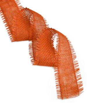 """2.5"""" Orange Jute Ribbon - 10 Yards"""