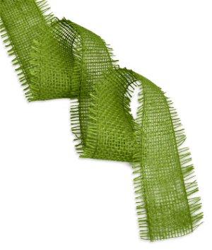 "2.5"" Apple Green Jute Ribbon - 10 Yards"