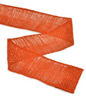 "2"" Orange Wired Burlap Ribbon - 10 Yards"