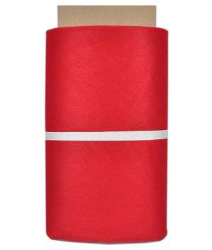 Red Nylon Netting Fabric
