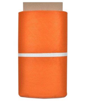 Tangerine Orange Nylon Netting Fabric