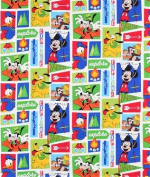 Springs Creative Disney Mickey Friends Exploring Fabric