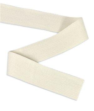 "1.5"" Natural Cotton Twill Ribbon - 10 Yards"