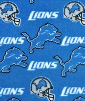 Detroit Lions NFL Fleece Fabric