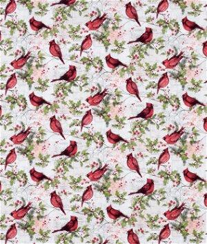 Springs Creative Christmas Cardinal With Holly Fabric