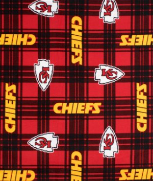 Kansas City Chiefs Plaid NFL Fleece Fabric