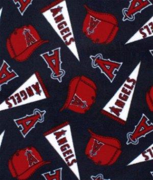 Los Angeles Angels of Anaheim MLB Fleece Fabric