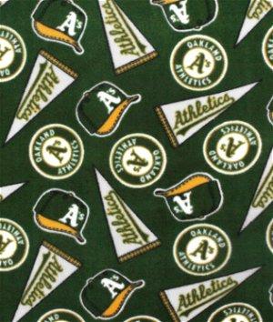 Oakland Athletics MLB Fleece Fabric