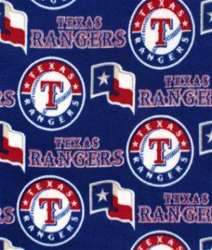 Texas Rangers MLB Fleece Fabric
