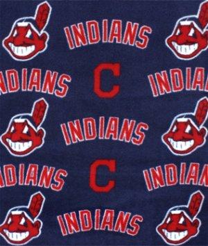 Cleveland Indians MLB Fleece Fabric